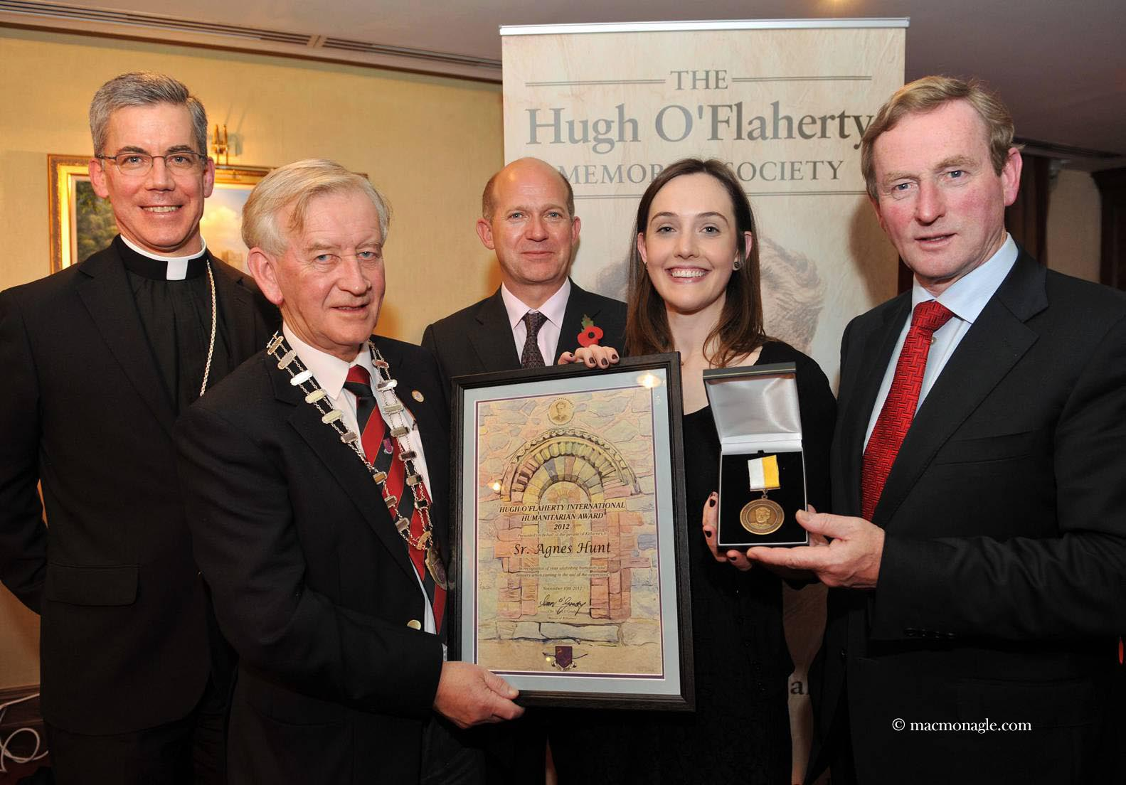 Papal Nuncio, Town Mayor, British Ambassador Dominick Chilcott, Joanne Joyce ICPO, An Taoiseach Enda Kenny